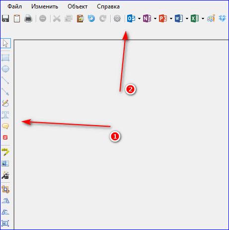 Функции встроенного редактора Greenshot