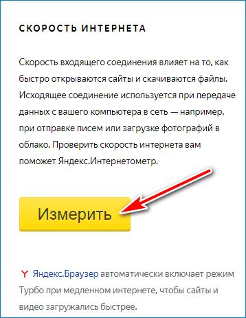 Измерение Yandex