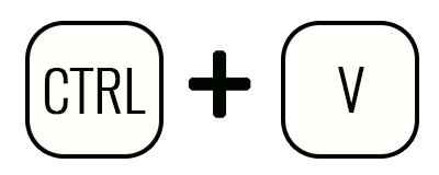 Комбинация Ctrl+V