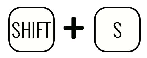 Комбинация клавиш «Shift» + «S»