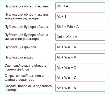 Настройка клавиш в Clip2Net