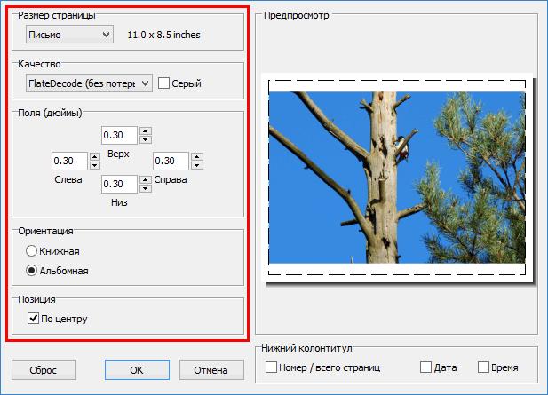 Настройки PDF в FastStone