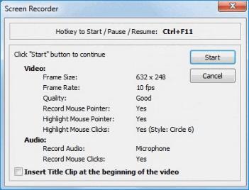 Настройки видео FastStone Capture