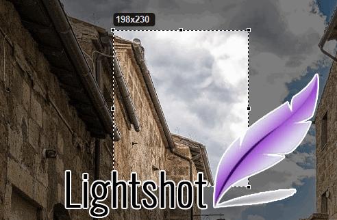 Обрезать снимок экрана—через Lightshot