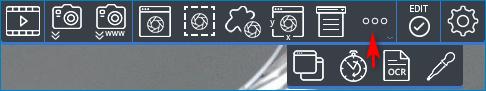 Панель инструментов на рабочем столе Ashampoo Snap 10