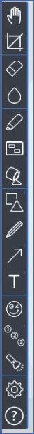 Панель с инструментами 10 версии Ashampoo Snap
