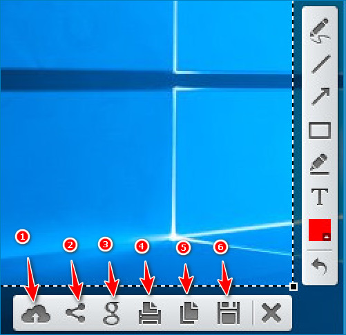 Панель управления Lightshot