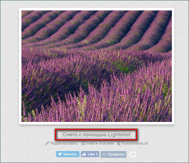 Передача скриншота на сервер с помощью Lightshot
