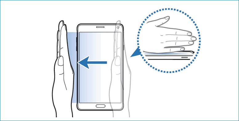 Провести ребром ладони по Samsung Galaxy A3