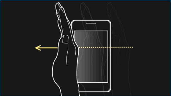 Провести рукой по Samsung A8