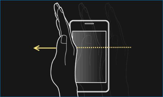 Сделать скрин ладонью на Samsung Galaxy J6