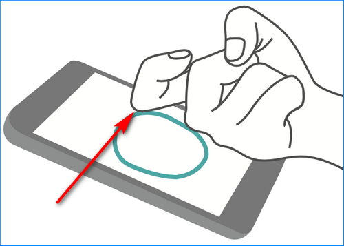 Скриншот костяшкаи пальцев