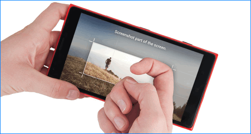 Скриншот тремя пальцами на телефоне Хонор