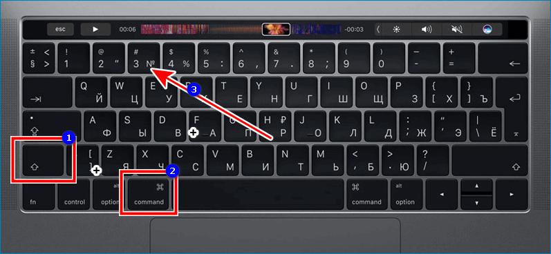 Скриншот всего экрана на Mac