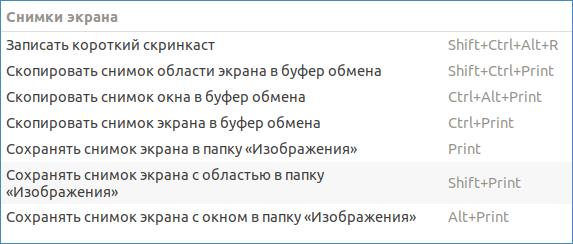 Скриншоты в Ubuntu