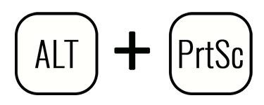 Сочетание клавиш Alt+PrtScr для сохранения скрина