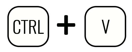 Сочетание клавиш «CTRL» + «V»
