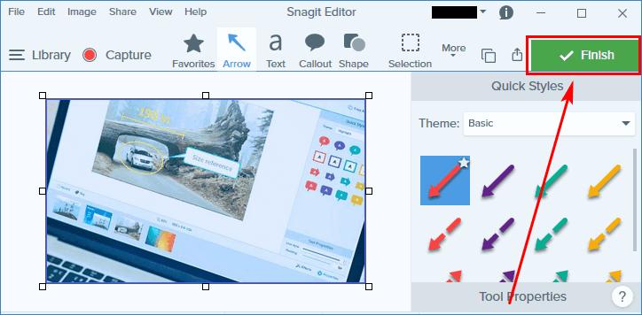 Сохранение в файл из редактора Snagit