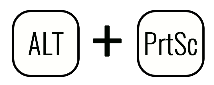 Создание скрина при помощи клавиш Alt+PrtSc