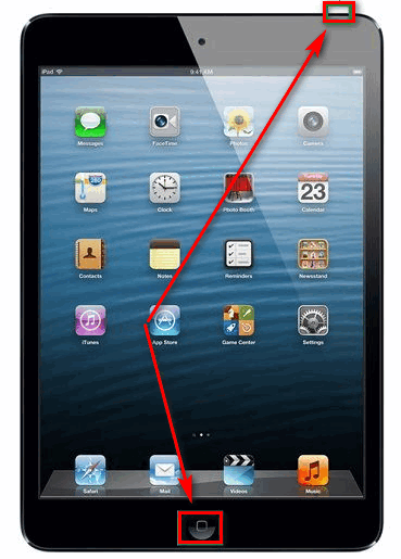 Создание скриншота на планшете iOS