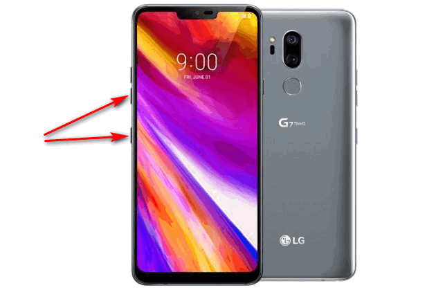 Создание скриншота на телефоне LG при помощи физических кнопок