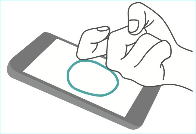 Создание скриншота с помощью жестов в Хонор 8